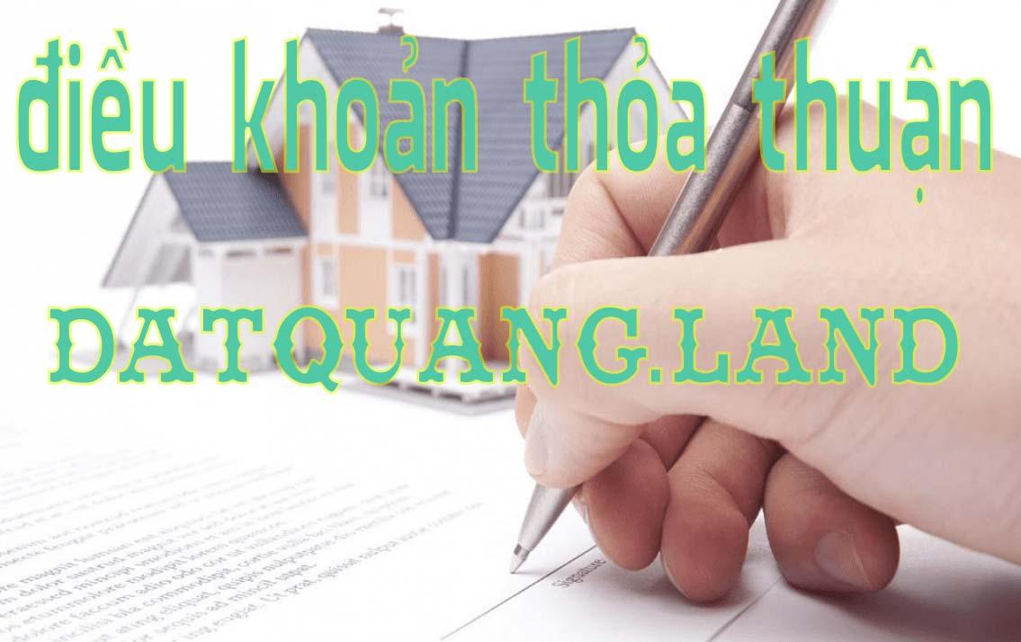 Điều khoản thỏa thuận nhà đất giá rẻ